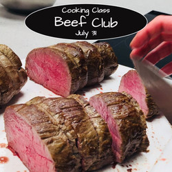 Beef Club Cooking Class