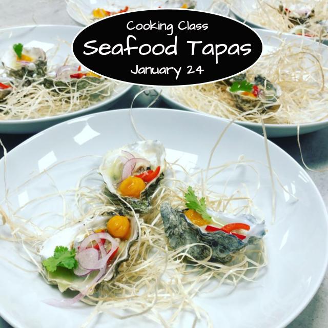 Seafood Tapas Cooking Class