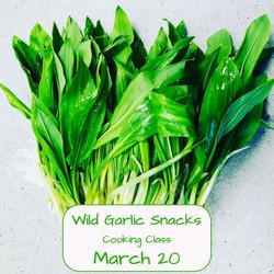 Wild Garlic Snacks Cooking Class