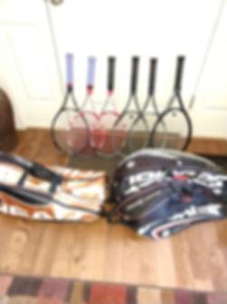 Donated Tennis Equipment