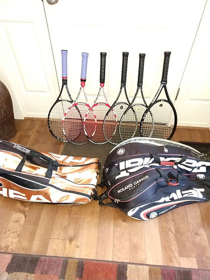 Donated Tennis Equipment