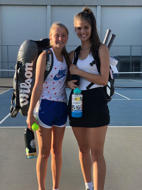 Meg and Abby victory in Canby tourney