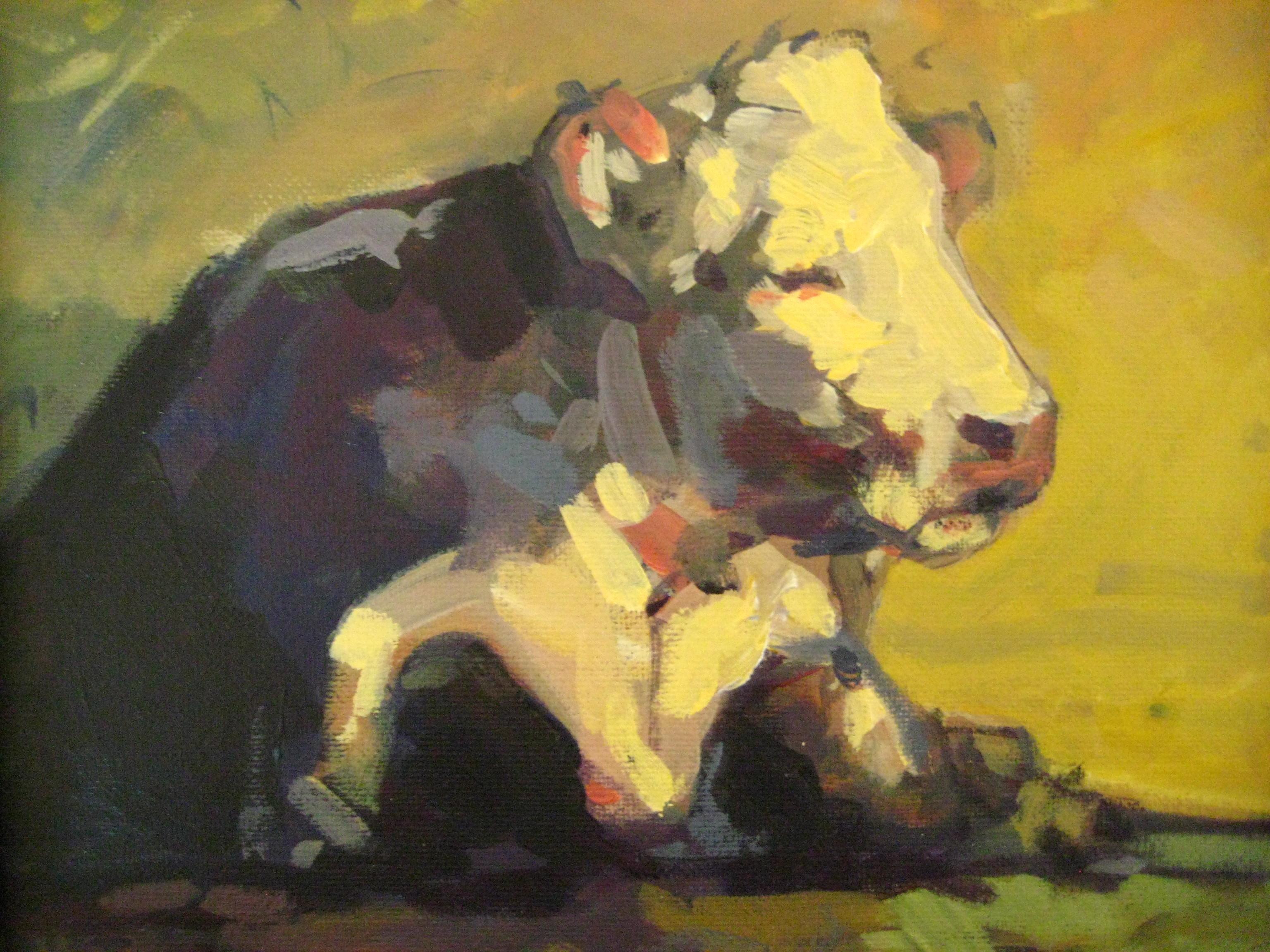 Reclining Bull