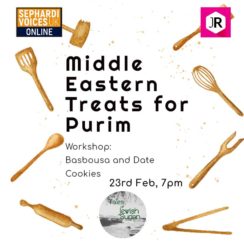 Festival Food Workshop: Middle Eastern Treats for Purim