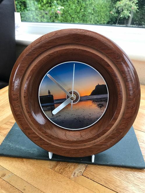 Mahogany Clock - Bradda Sunset