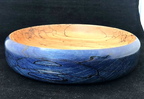 Spalted Beech 'Royal Blue' Marine Collection Shallow Bowl