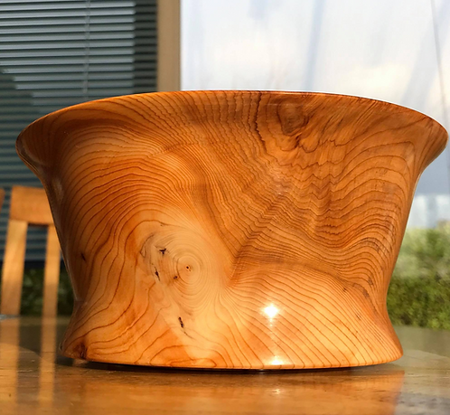 Manx Yew Fluted Bowl