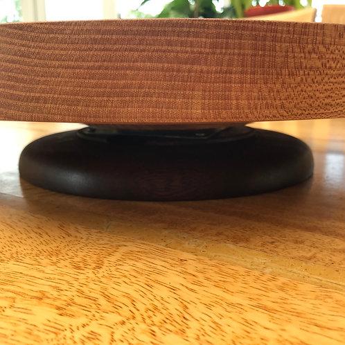 Elm on Mahogany base 'Lazy Susan' - Platter