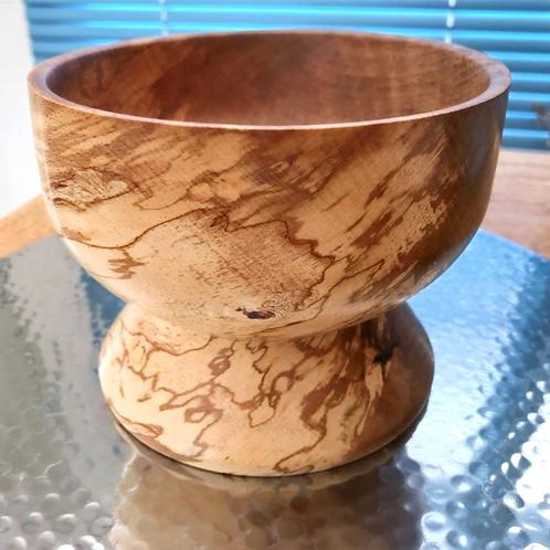 Manx Spalted Beech Tall Pedestal Bowl