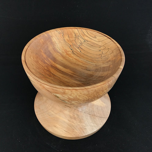 Manx Spalted Sycamore Pedestal Bowl