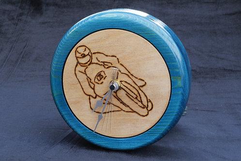 'Michael Dunlop' Inlaid Pine Clock