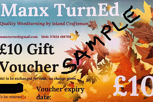£10.00 Manx TurnEd GIFT VOUCHERS