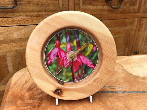 Manx Fuchsia Pine Clock