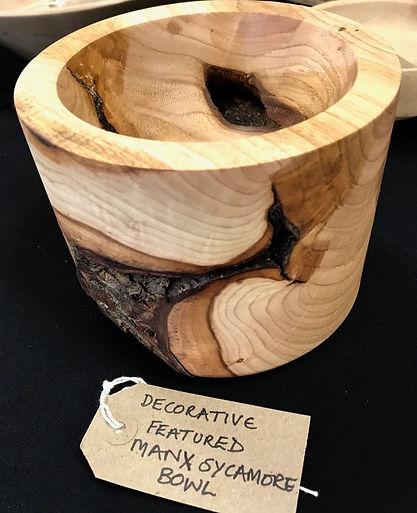 decorative feature manx sycamore bowl 6.