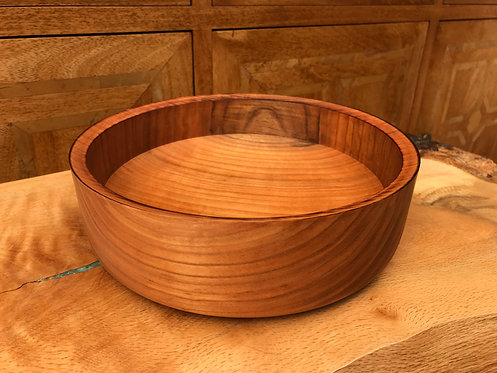 Large Cherry straight sided Bowl
