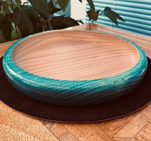 Beech 'Aqua' Shallow Curved Platter/Bowl
