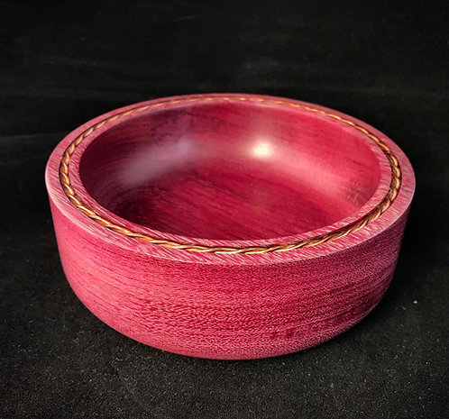 PurpleHeart and Copper Wire Bowl