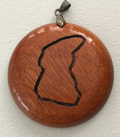 OM Mountain Circuit Wood Turned Pendant