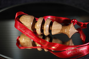 Wood Turned Xmas Decoraion - Nollick Ghennal