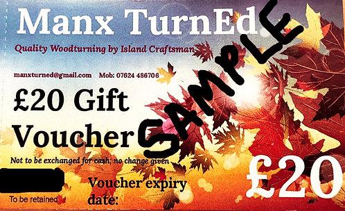 £20.00 Manx TurnEd GIFT VOUCHERS