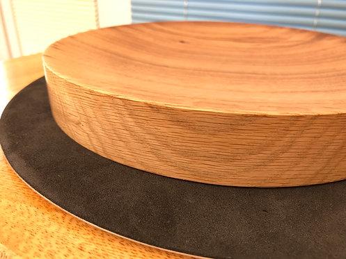 Oak 'flat based' Platter