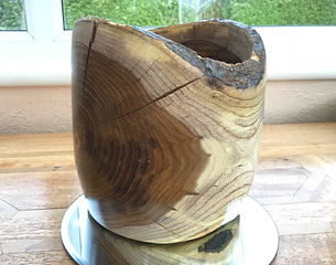 Laburnum Natural Form Bowl with Rustic Edging