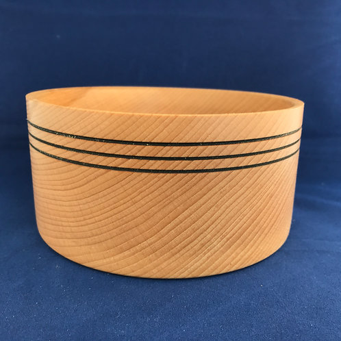 Beech Bowl with decorative features