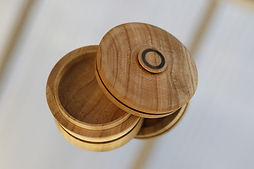 Woodturned Eucalyptus Lidded Box