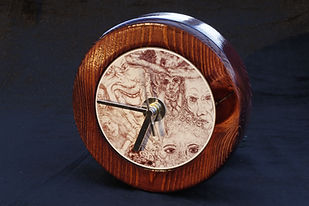 'Obscurity' by K.L.R - woodturned clock
