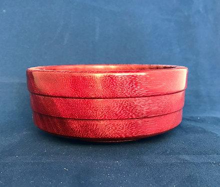 Exotic Purpleheart Wood Bowl