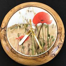 Burr Oak Clock - Poppy Field
