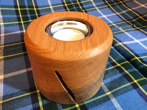 Manx Oak 'Secret' Tea-Light Holder
