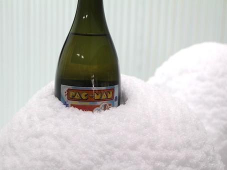 大雪の時は、雪でお酒を冷やす