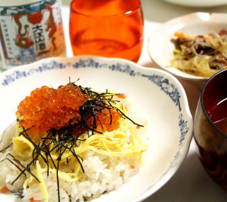 ちらし寿司とあっさり純米生貯蔵酒