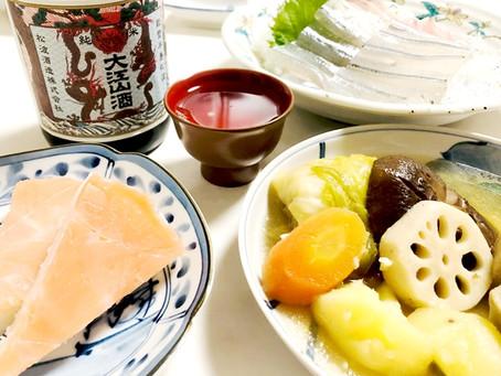 おだしのきいたお料理と大江山復刻版純米酒