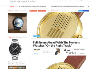 On the Right Track Watch was reported in the blog : The Wrist Watch Reviw!