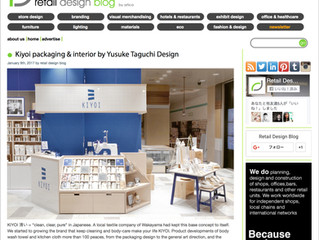 """[""""KIYOI STORE"""" was introduced by the store design site """"Retail Design Blog"""".]"""