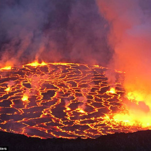 Lava lake Nyiragongo Democratic Republic of Congo