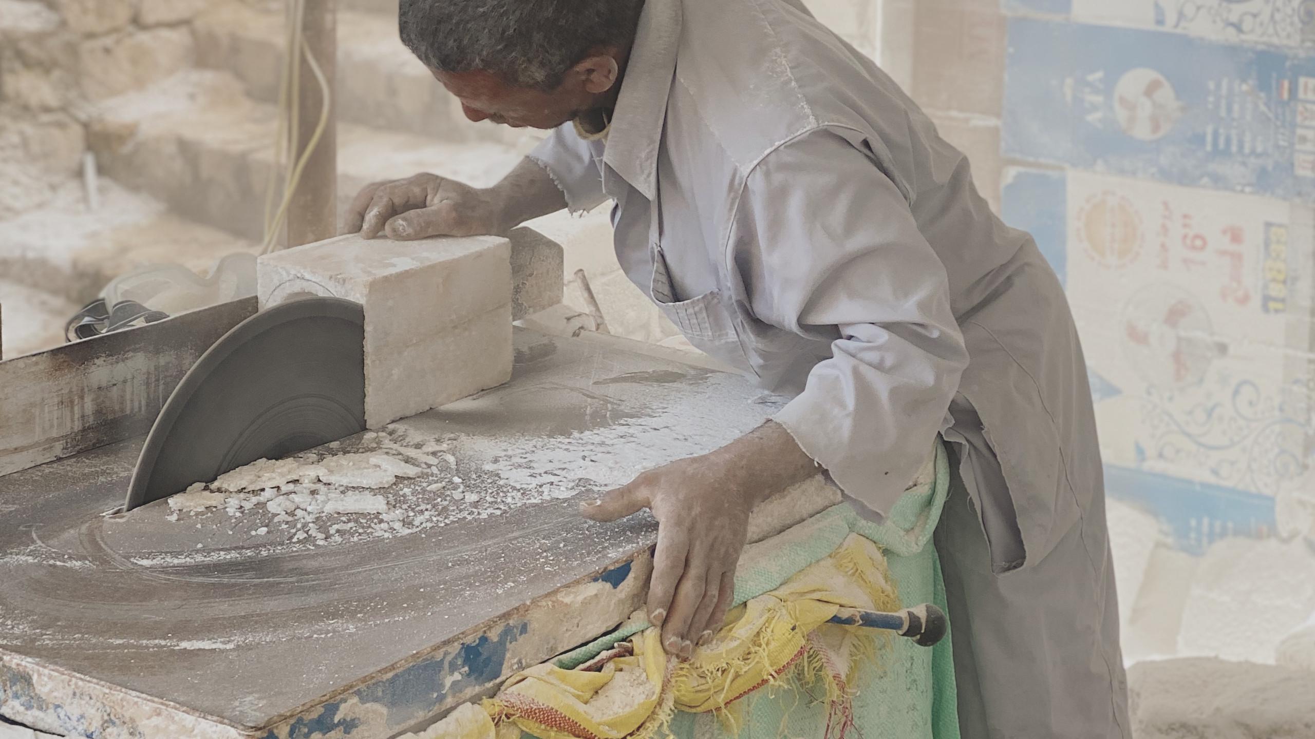 Shaping a block of salt
