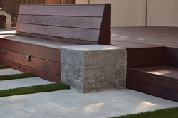 IPE Bench, concrete end table