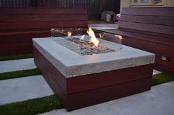 Build-in IPE/concrete fire pit