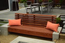 Redwood bench
