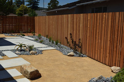 Patio and wooden fence