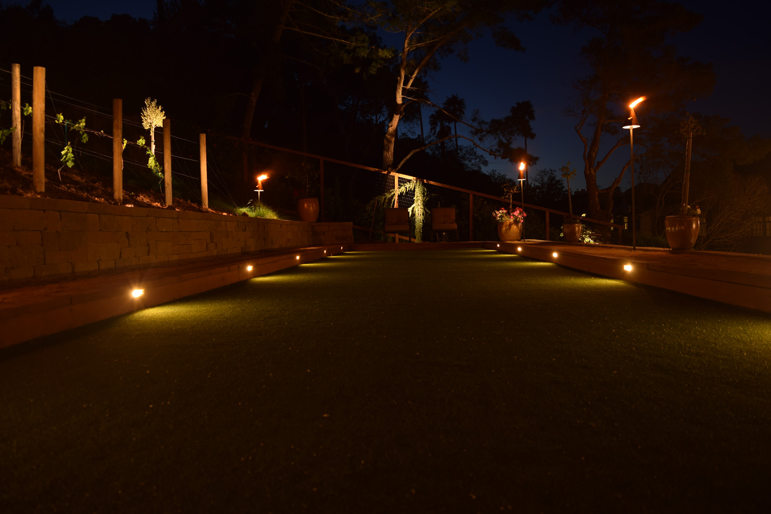 Bocce Ball court lights
