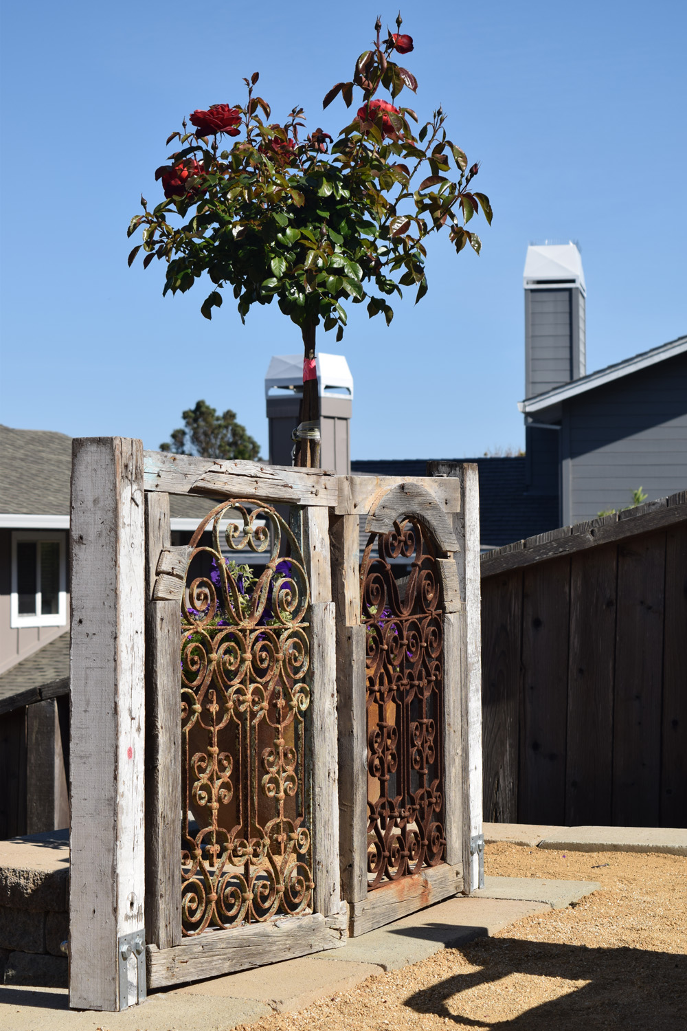 Reclaimed wood gate