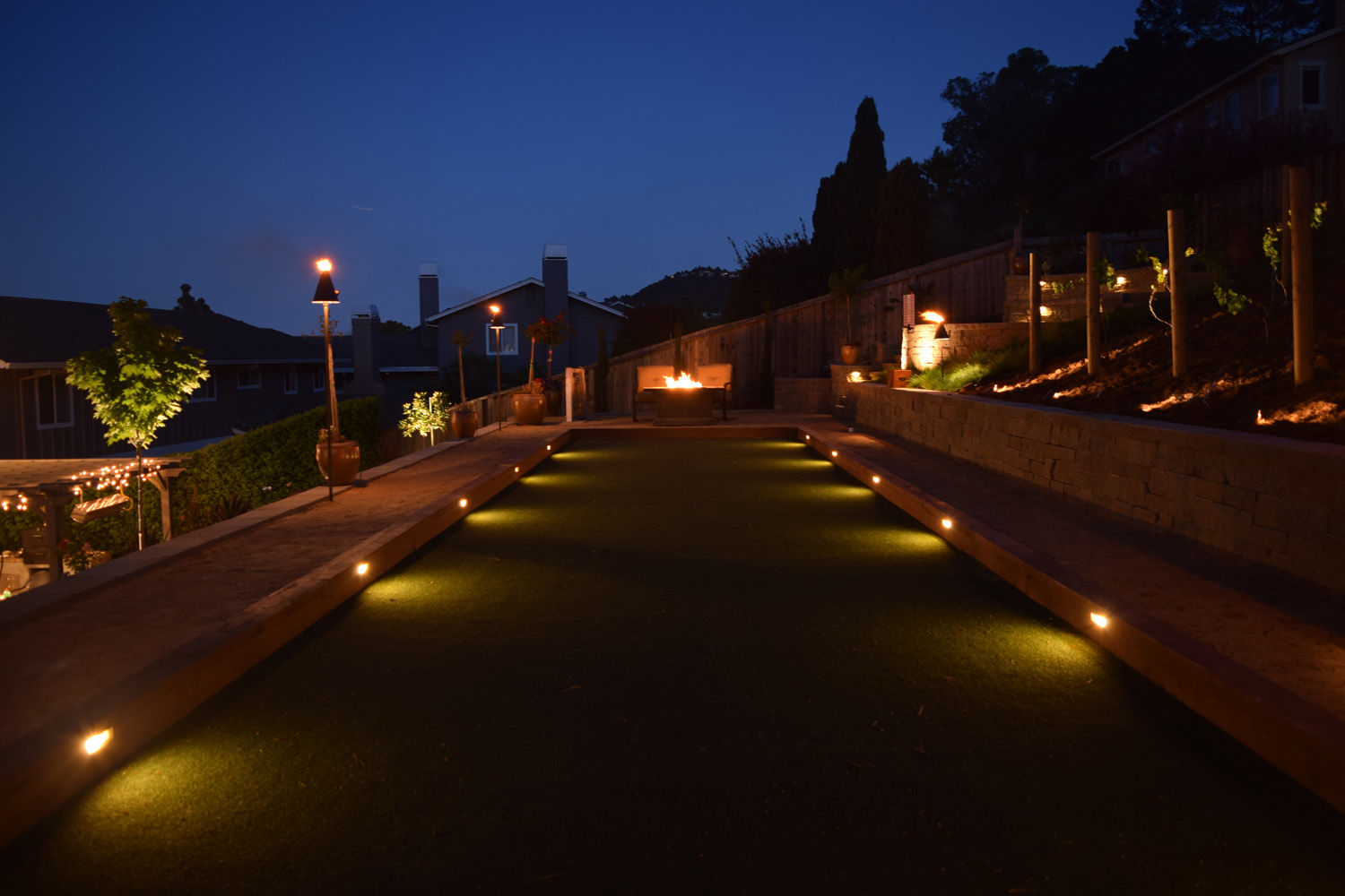 Artificial grass lights