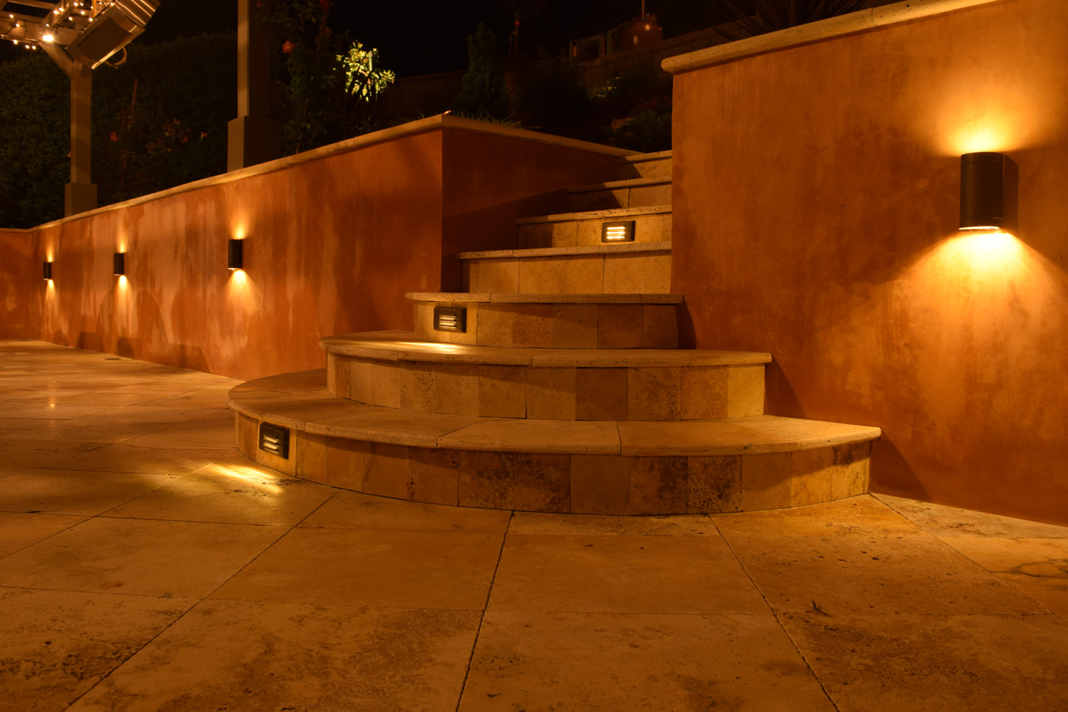 Steps outdoor lights