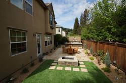 Modern backyard design