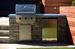 BBQ Island Concrete countertop