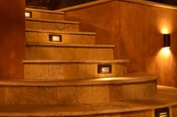 Steps outdoor lights